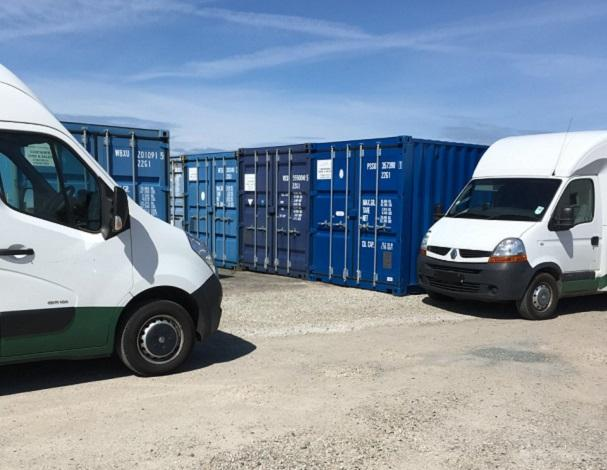 Removal vans and storage containers
