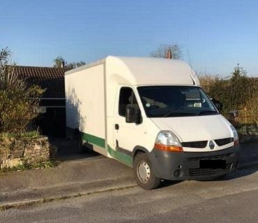 Small removal van for restricted access